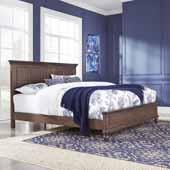 Flexsteel® Southport King Bed In Dark Brown Aged Oak, 66-1/2''W x 89-3/4''D x 52''H