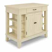 Flexsteel® Seaside Lodge Kitchen Island In White, 42''W x 24''D x 36''H