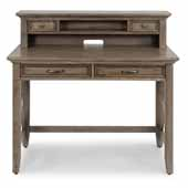 Flexsteel® Mountain Lodge Student Desk With Hutch In Multi-Colored Gray, 44''W x 24''D x 30''H