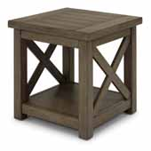 Flexsteel® Mountain Lodge End Table In Multi-Colored Gray, 22''W x 22''D x 22''H