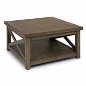 Flexsteel® Mountain Lodge Coffee Table In Multi-Colored Gray, 36''W x 36''D x 18''H