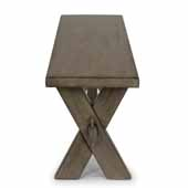 Flexsteel® Mountain Lodge Trestle Bench In Multi-Colored Gray, 54''W x 14''D x 18''H