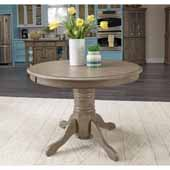 Flexsteel® Mountain Lodge Round Dining Table In Multi-Colored Gray, 42''W x 42''D x 30''H