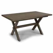 Flexsteel® Mountain Lodge Rectangular Trestle Dining Table In Multi-Colored Gray, 60''W x 38-1/4''D x 30''H