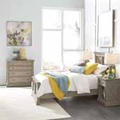 Flexsteel® Mountain Lodge Twin Bed, Night Stand, & Chest In Multi-Colored Gray, 46''W x 83-1/2''D x 50''H