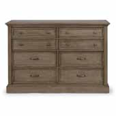 Flexsteel® Mountain Lodge Dresser In Multi-Colored Gray, 54''W x 18-3/4''D x 36''H