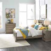 Flexsteel® Mountain Lodge Queen Bed, Night Stand, & Chest In Multi-Colored Gray, 66-3/4''W x 89-1/2''D x 50''H