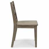 Flexsteel® Mountain Lodge Bar Pair Of Chairs with Curved X Frame In Multi-Colored Gray, 18''W x 20-3/4''D x 34-1/2''H