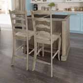 Flexsteel® Mountain Lodge Granite Top Kitchen Island With 2 Stools In Multi-Colored Gray, 47''W x 30''D x 36''H