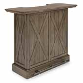 Flexsteel® Mountain Lodge Bar In Multi-Colored Gray, 52''W x 21''D x 42-1/2''H