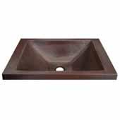 Hana Bathroom Sink in Antique Copper, 20''W x 13''D x 5''H