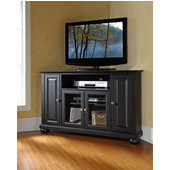 Alexandria 48'' Corner TV Stand in Black Finish