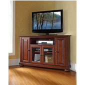Alexandria 48'' Corner TV Stand in Vintage Mahogany Finish