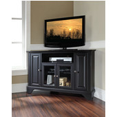 LaFayette 48'' Corner TV Stand in Black Finish