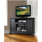 Cambridge 48'' Corner TV Stand in Black Finish