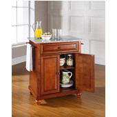 Cambridge Solid Granite Top Portable Kitchen Island in Classic Cherry Finish, 28-1/4'' W x 18'' D x 36''H