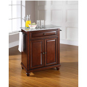 Cambridge Solid Granite Top Portable Kitchen Island in Vintage Mahogany Finish, 28-1/4'' W x 18'' D x 36''H