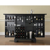 LaFayette Expandable Bar Cabinet in Black Finish