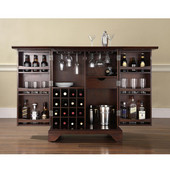 LaFayette Expandable Bar Cabinet in Vintage Mahogany Finish