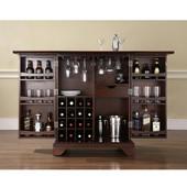 LaFayette Expandable Bar Cabinet in Vintage Mahogany Finish