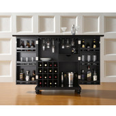 Cambridge Expandable Bar Cabinet in Black Finish