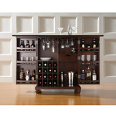 Cambridge Expandable Bar Cabinet in Vintage Mahogany Finish