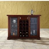 Alexandria Sliding Top Bar Cabinet in Vintage Mahogany Finish