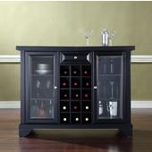 LaFayette Sliding Top Bar Cabinet in Black Finish