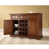 Alexandria Buffet Server / Sideboard Cabinet with Wine Storage in Classic Cherry Finish