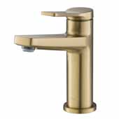 KRAUS Indy™ Single Handle Bathroom Faucet In Brushed Gold, Spout Height: 4-5/8'', Spout Reach: 5-1/8''