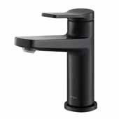 KRAUS Indy™ Single Handle Bathroom Faucet In Matte Black, Spout Height: 4-5/8'', Spout Reach: 5-1/8''