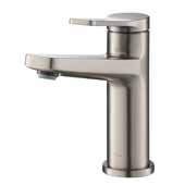 KRAUS Indy™ Single Handle Bathroom Faucet In Spot Free Stainless Steel, Spout Height: 4-5/8'', Spout Reach: 5-1/8''