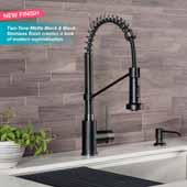 KRAUS Merlin™ Single Handle Pull-Down Kitchen Faucet In Spot Free Stainless Steel, Spout Height: 8-5/8'', Spout Reach: 9-1/8''