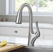 KRAUS Odell™ Single Handle Pull-Down Kitchen Faucet In Spot Free Stainless Steel, Spout Height: 9-3/4'', Spout Reach: 9-3/8''