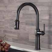 KRAUS Sellette™ Traditional Single Handle Pull-Down Kitchen Faucet In Oil Rubbed Bronze, Spout Height: 7-1/2'', Spout Reach: 8-1/2''