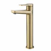KRAUS Indy™ Single Handle Vessel Bathroom Faucet In Brushed Gold, Spout Height: 9-1/4'', Spout Reach: 5-1/8''