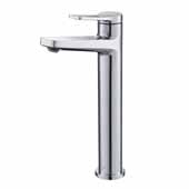 KRAUS Indy™ Single Handle Vessel Bathroom Faucet In Chrome, Spout Height: 9-1/4'', Spout Reach: 5-1/8''
