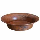 Maestro Bajo Bathroom Sink in Tempered Copper, 16-1/4''Diameter x 4-3/4''H