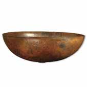 Maestro Oval Bathroom Sink in Tempered Copper, 17-1/4''W x 13-1/4''D x 6''H