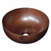 Maestro Petit Bathroom Sink in Antique Copper, 12-1/2''Diameter x 5-3/4''H