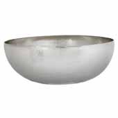 Maestro Round Bathroom Sink in Brushed Nickel, 16''Diameter x 6-1/2''H
