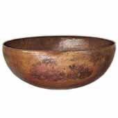 Maestro Round Bathroom Sink in Tempered Copper, 16''Diameter x 6-1/2''H
