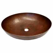 Maestro Sonata Bathroom Sink in Antique Copper, 17''Diameter x 4-1/2''H
