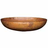Maestro Sonata Petit Bathroom Sink in Tempered Copper, 14-1/2''Diameter x 3-3/4''H