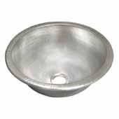 Paloma Bathroom Sink in Brushed Nickel, 13-3/4''Diameter x 6''H
