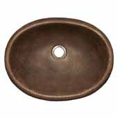 Rolled Baby Classic Bathroom Sink in Antique Copper, 15-1/2''W x 12''D x 5''H