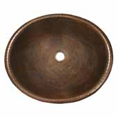 Rolled Classic Bathroom Sink in Antique Copper, 18-1/2''W x 15-1/2''D x 5-1/2''H