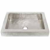 Tatra Bathroom Sink in Brushed Nickel, 20''W x 16''D x 4-1/2''H