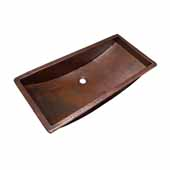 Trough 30'' Bathroom Sink in Antique Copper, 30''W x 14''D x 6''H