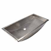 Trough 30'' Bathroom Sink in Brushed Nickel, 30''W x 14''D x 6''H